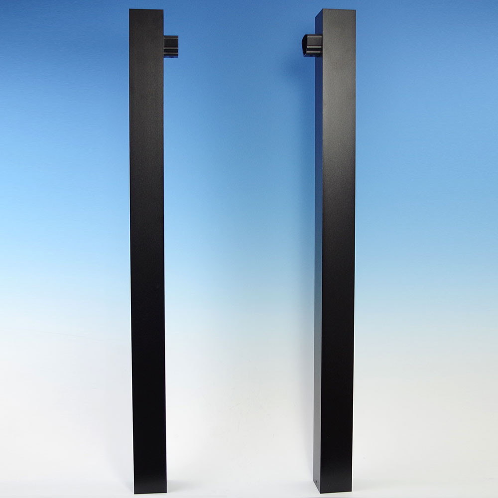 Prestige Aluminum Gate Uprights - Absolute Black (Post caps also included)
