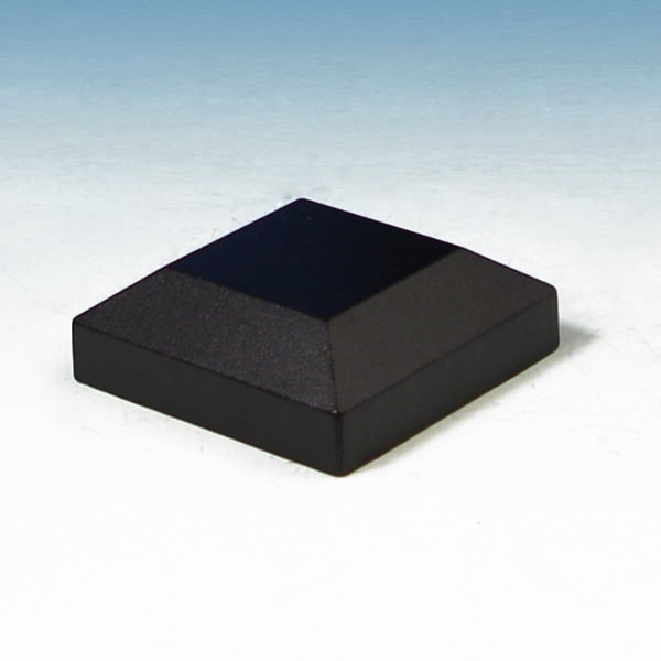 Prestige Aluminum Rail Post Cap - Absolute Black 3""