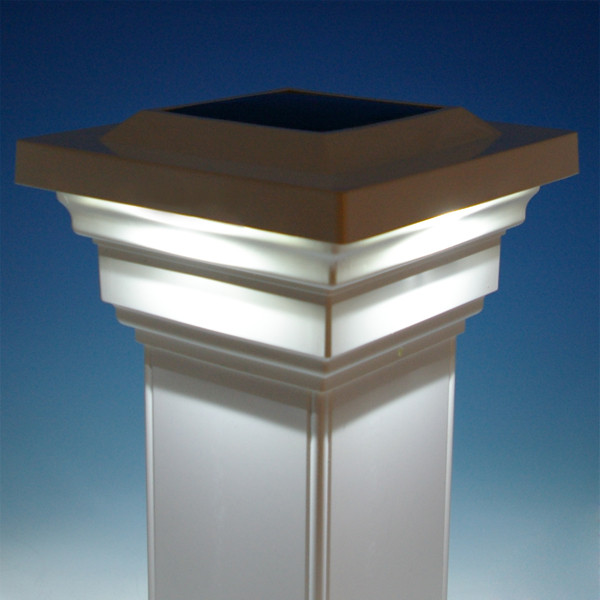 regal solar post cap light classy caps white illuminated fence 6x6 4x4 lights lowes