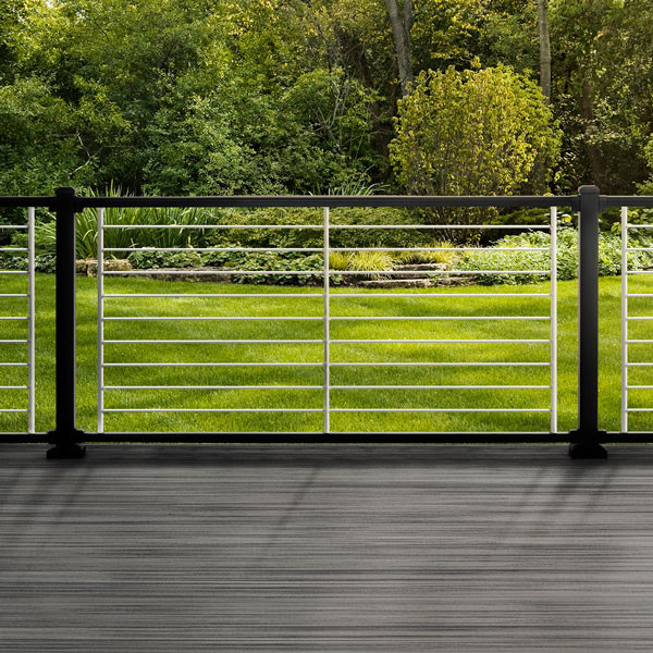 Signature Rod Rail Kit by Trex - Charcoal Black Rails and Platinum Rods