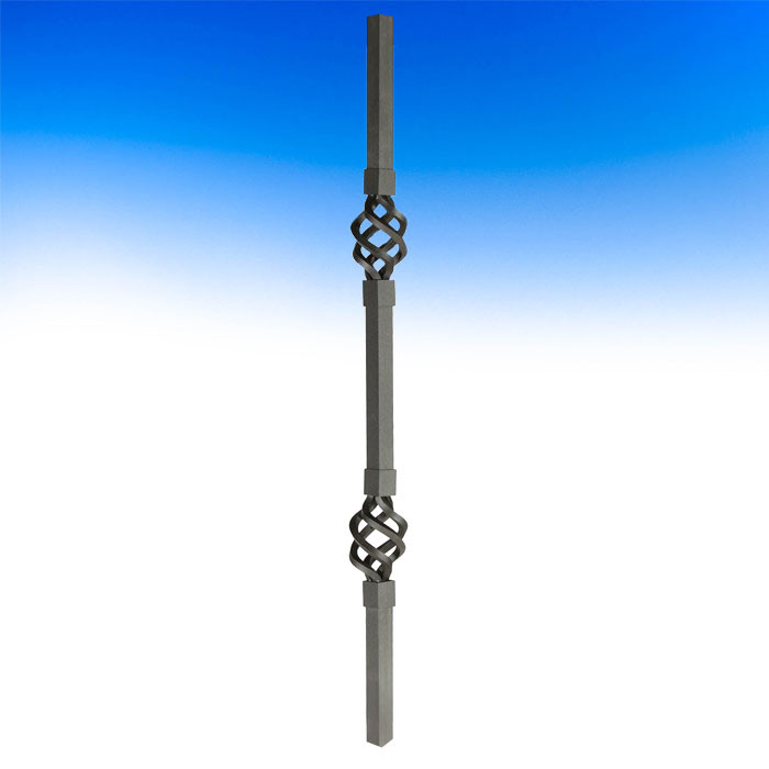 Dekor Double Basket Square Balusters - Oil Rubbed Bronze
