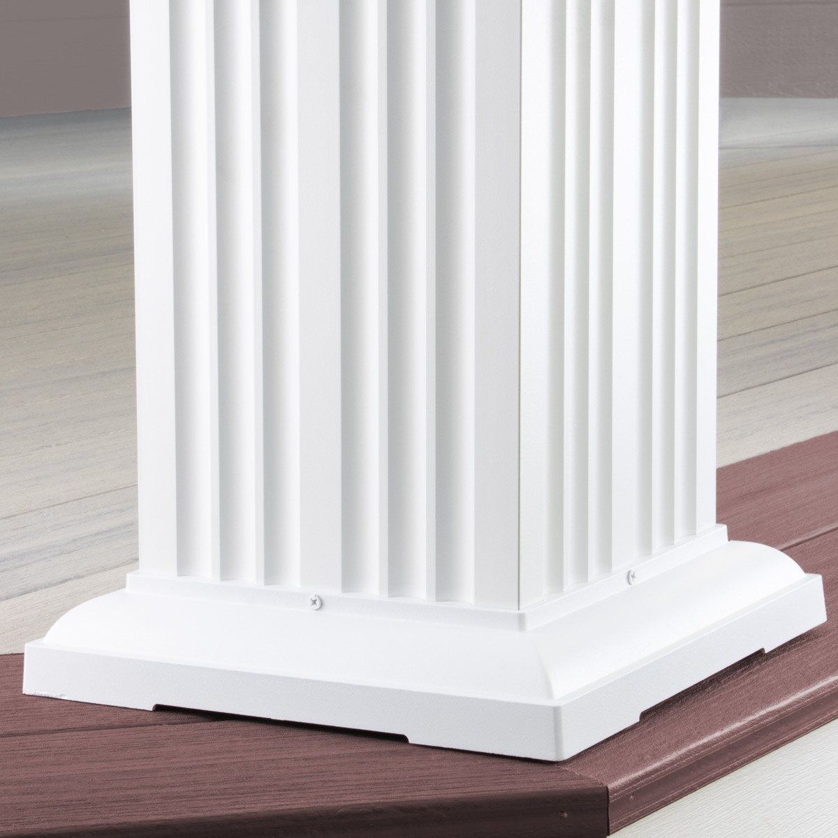 AFCO Square Fluted Aluminum Column Post Kits - Installed