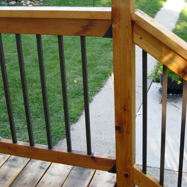Square Aluminum Deck Balusters by DekPro - 32 in - Sanded Bronze - 10 pack