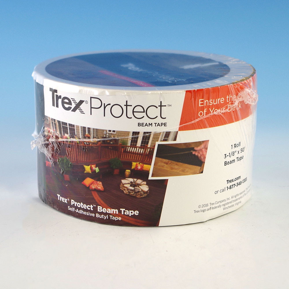 Trex Protect Self-Adhesive Flashing Tape is sold in rolls of 50 feet to complete your deck and backyard project quickly.