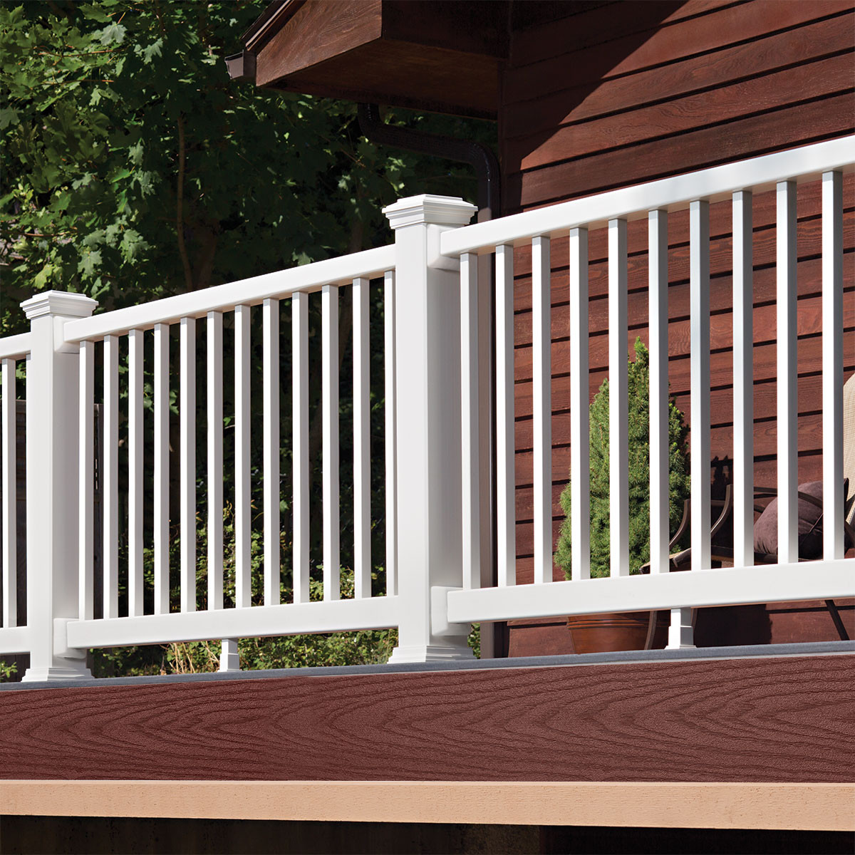 Choose the Trex Select Fascia Board in Madeira to perfectly complement your wood-sided home.