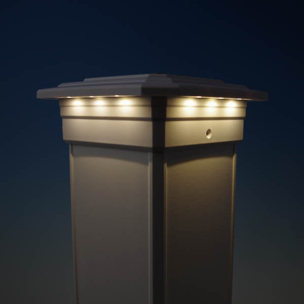 Solar Post Cap Light For Azek Timbertech Post Sleeves By