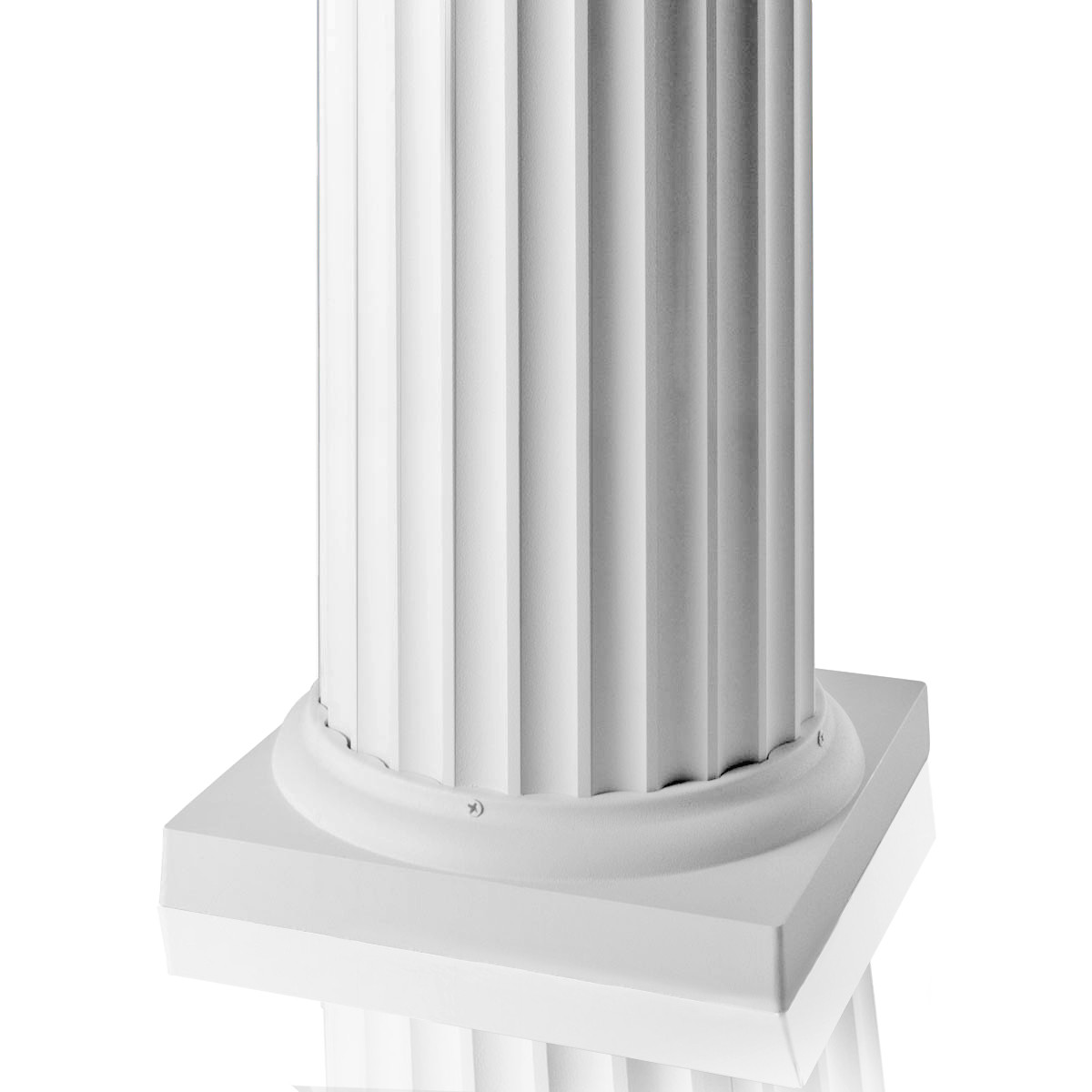 AFCO Round Fluted Aluminum Column Post Kits - Textured White