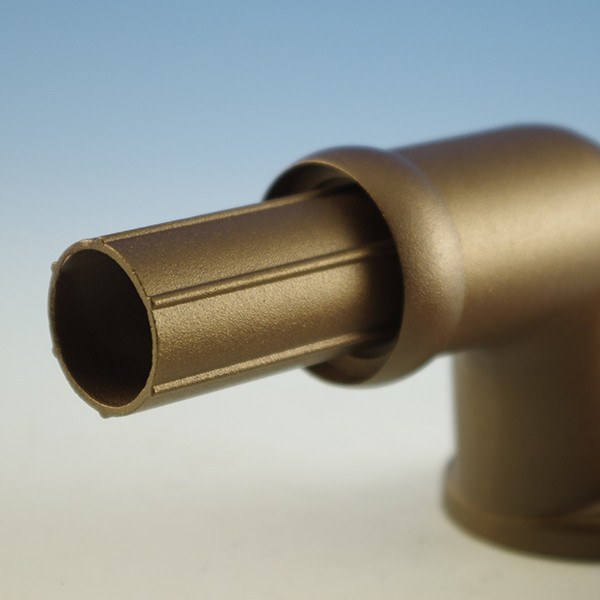 Wall Return Handrail Support for Westbury Continuous Aluminum Handrail - Bronze Fine Texture