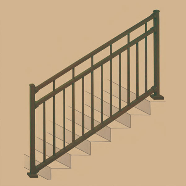 Riviera II Stair Rail Section Kits By Westbury Aluminum Railing    DecksDirect