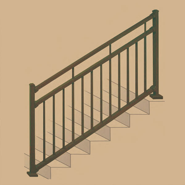 Riviera iv stair rail section kits by westbury aluminum
