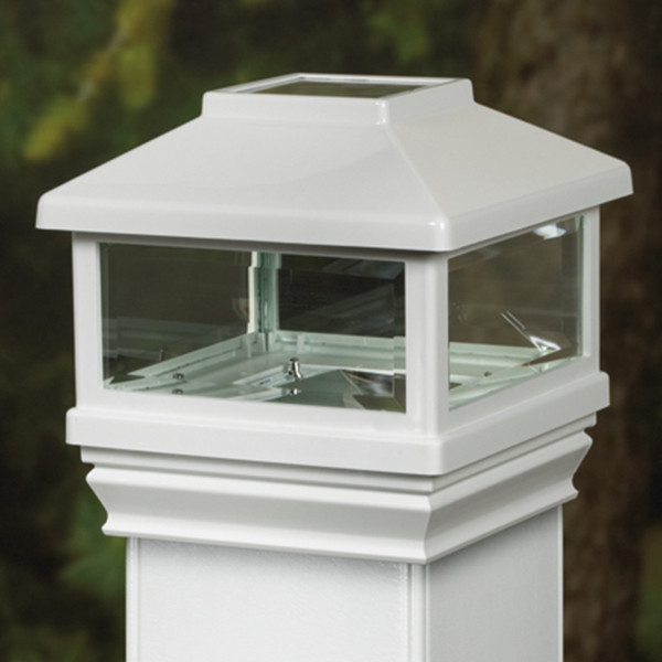 Solar Post Cap for DecKorators CXT Railing System - White