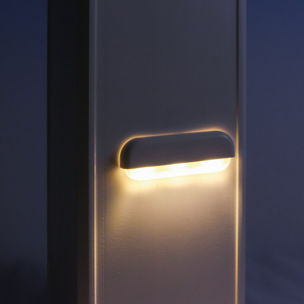 Riser/Rail LED Light with 2 Covers by LMT Mercer - Small Cover - Installed