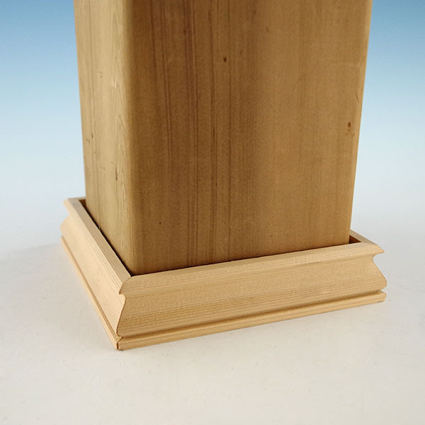 "Wood 2-Piece Post Skirt Kit by Woodway - 3-5/8"" Cedar"