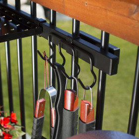 From gardening areas to backyard grill out zones, keep your things in place with the Tool Hook Bundle by Hold It Mate.