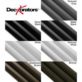 Classic Round Aluminum Balusters By Deckorators - Finishes