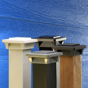 With a variety of finishes available, the Deckorators ALX Luna Post Cap Light can blend with nearly any railing style.