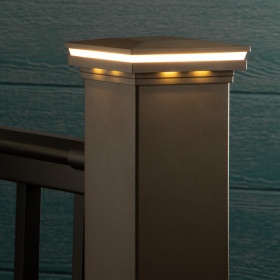 Add a beautiful touch of light around your deck posts with the Ornamental LED Post Cap Light for AFCO by LMT Mercer.