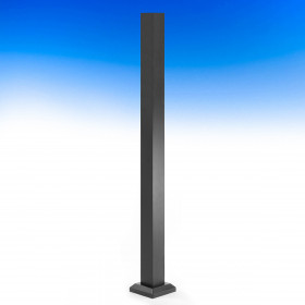 AL13 Aluminum Post by Fortress - Black Sand (Base cover/skirt is included)