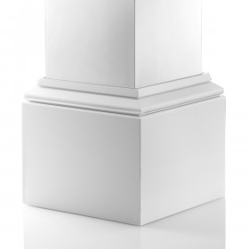AFCO Natchez Aluminum Column Post Kits - Textured White