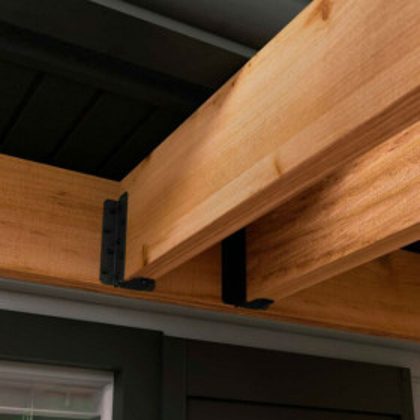 Ironwood 8-10 Inch Joist Hanger by OZCO Ornamental Wood Ties