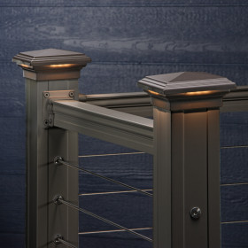 Pyramid Downward LED Post Cap Light by KeyLink