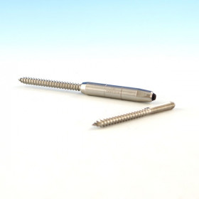 "CableRail Quick-Connect® Lag by Feeney - Standard (two lag screws included with 1/8"". 3/16"" only comes with one 3.5"" lag.) - The non-adjustable termination fitting that doesn't tension"