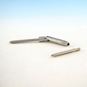"CableRail Quick-Connect® Pivot Lag by Feeney - Standard (two lag screws included with 1/8"". 3/16"" only comes with one 3."" lag.) - The non-adjustable termination fitting that doesn't tension"