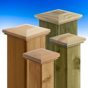 Tucson Inset Demi-Top Post Cap by Acorn Deck Products