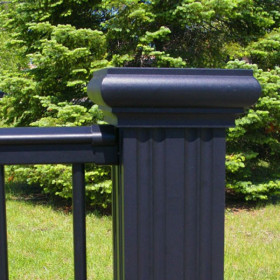 Aluminum Newel Cap and Base Kit by Afco (Post cover sold separately)
