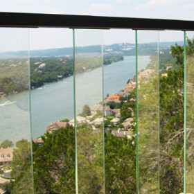 AL13 Aluminum Glass Balusters for Pure View Glass Rail by Fortress