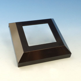 AL13 Aluminum Post Base Cover for Pure View Glass Rail by Fortress - Gloss Black