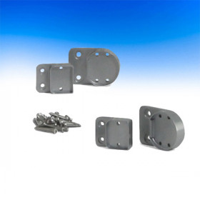 ALX Contemporary Round Level Rail Brackets by Deckorators