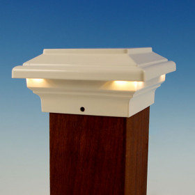 Neptune LED Post Cap Light by Aurora Deck Lighting - White