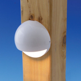 Nebula Eyeball Rail Light by Aurora Deck Lighting - White