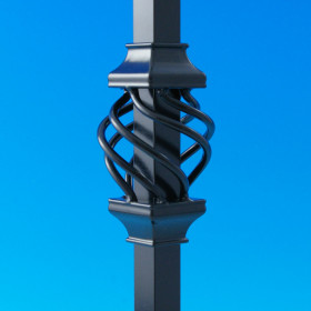 Basket Accessory for Estate Square Aluminum Baluster By Deckorators