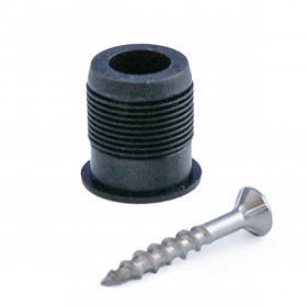 Universal Round Baluster Connectors, available in a black finish, include stainless steel installation screws.