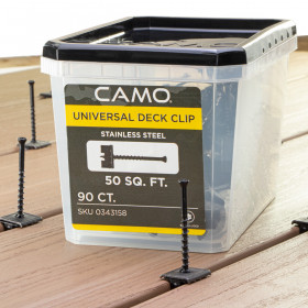 Camo Hidden Deck Clips and Fasteners - 90