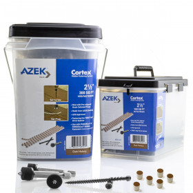 The Collated Cortex Concealed Fastening System for AZEK Decking is available in packs of 350 or 1050 to complete your outdoor space.