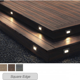 Create a stunning perimeter with Deckorators Heritage Fascia Boards in Riverhouse complete with Recessed LED Riser Lights.
