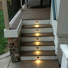 Recessed LED Riser Light with Shade by Deckorators