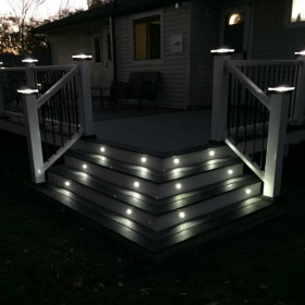 Recessed LED Riser Light by Deckorators