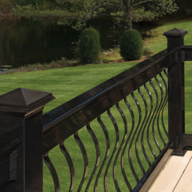 Baroque Architectural Face-Mount Aluminum Balusters by Deckorators