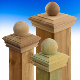 Newport Ball Top Post Cap by Deckorators