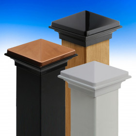 Discover the gorgeous, rich color options of the Pyramid Post Cap by Deckorators.