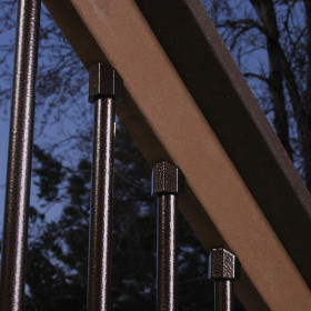 Dekor End Cap Round Baluster Stair Connectors - Dark Copper Vein