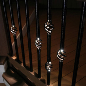 Dekor Single Basket Round Baluster with Light