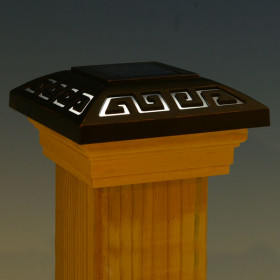 Deckorators Labyrinth Solar Post Cap Light