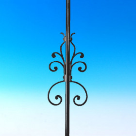 Nouveau Centerpiece for Round Baluster by Deckorators
