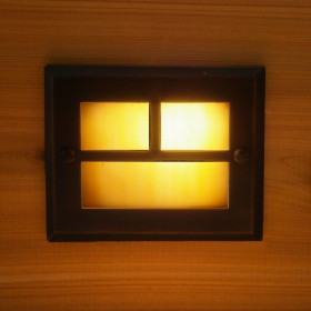 Mt Evans Recessed LED Riser Light by Highpoint Deck Lighting - Antique Bronze - lit