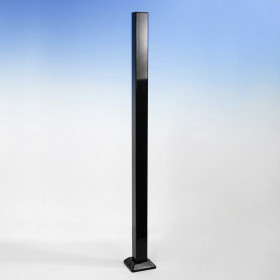 FE26 Iron Post for Pure View Glass Rail by Fortress - Gloss Black 2""